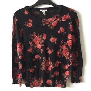 Floral F21 Sweater